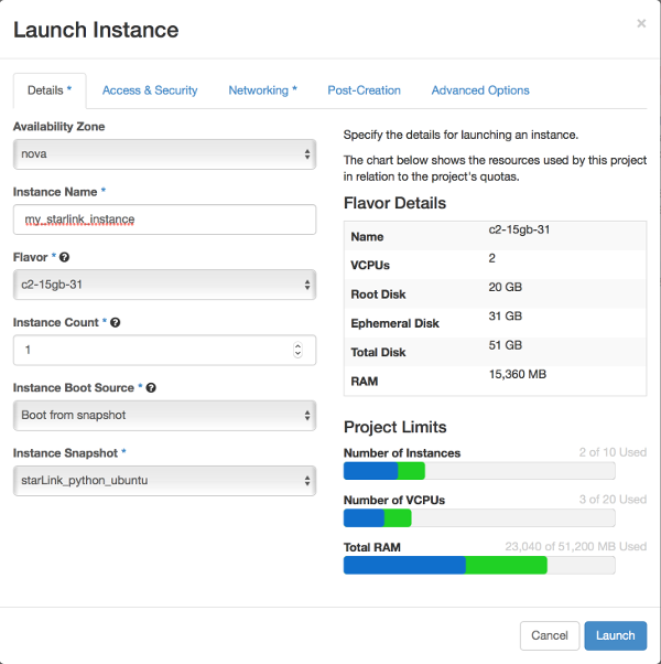 Launch Instance Dialog image